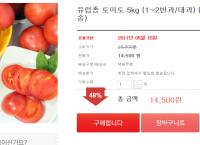 유럽종 토마토 5kg 1~2번과/대과 (14,500원/무배)