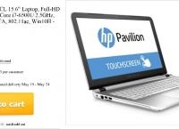"[woot] HP Pavilion 15.6"" 1080P IPS Touch, i7-6500U, 12GB DDR3, 1TB HD - Refurbished ($499.99/$5.00)"