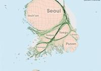 대한민국 인구 분포를 지도비율로 나타내봤다