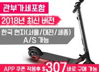 [2018년 최신] Ninebot 나인봇 8인치 ES2 접이식 전동킥보드, 한국 A/S가능 ($307, 원화345,375원/무료배송)