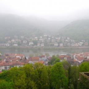 비오는 날 하이델베르크