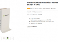 On Networks N150 Wireless Router, Open Source Ready - N150R ($5 / $0)