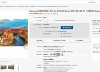 "[ebay]65"" Samsung UN65KS8000 Flat 120Hz Smart 4K SUHD HDR 1000 HDTV[$1749/fs]"