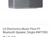 [EBAY]끌올 LG Electronics Music Flow P7 Bluetooth Speaker, Single #NP7550  ($43/fs)