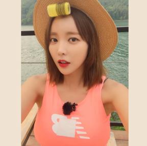 홍진영 셀카