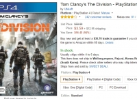 [Amazon] PS4 Tom Clancy's The Division (	 $3.59 / $ 12.95)