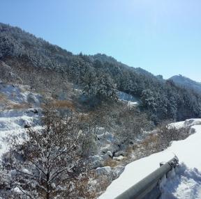 강원도 겨울 설산
