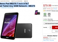 [Rakuten]ASUS Memo Pad ME375 7 Inch AT&T Unlocked Tablet Any GSM Network - ME375[79.99$/FS]