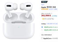 Apple 에어팟 프로 (262,500원 /무배)
