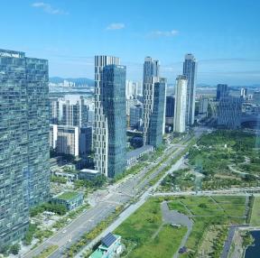 인천 송도 지타워에서 바라본 풍경
