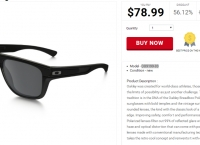 [shnoop] Oakley - Mens Breadbox Polished Black w/ Black Iridium Polarized Lens Sport Sunglasses($78.99, Free)