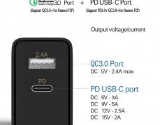 초특가! Coolreall 고속 충전기 qc3.0 + pd3.0 지원 ( $8.99 / 무료배송 )