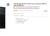 [Newegg] HP ProLiant ML10 v2 Tower Server System i3-4150 3.5 GHz 4GB ($188/FS)