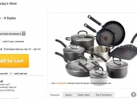 [woot] T-fal E918SE Ultimate Hard Anodized Nonstick Dishwasher 14-Piece [$99.99/$5)
