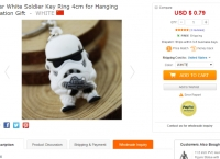 [everbuying] Popular White Soldier Key Ring 4cm for Hanging Decoration Gift ($0.79/fs)