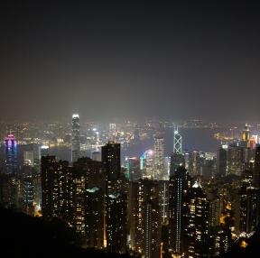 홍콩 야경이에요~