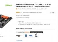 [NEWEGG] AsRock Z170 Pro4S (79.99$/샵러너Free)