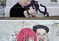 어느 평화로운 마을의 벽화
