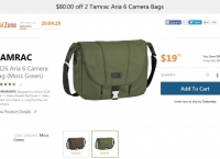 [bhphotovideo] Tamrac 5426 Aria 6 Camera Bag ($19.95/무료)
