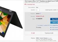 """[ebay] New Lenovo Flex 3 14"""" FHD i7-6500U 8G 1T HDD WIN10 ($649.99/Free shipping)"""