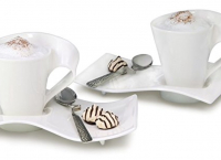 Villeroy & Boch 빌보뉴웨이브 선물용으로 좋은 특이한 머그컵2개세트 49%할인가 $69.95