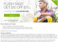 [eBay] $15 off $75+ order coupon code ($0/$0)