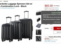 [rakuten] 3-pc Hardside Luggage Spinners ($65/FS)