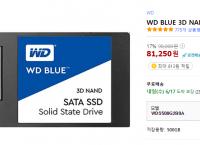 WD blue 500g SSD (81250원 무배)