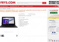"[frys] Vulcan 10.1""/ 2-in-1, 10.1"" Touchscreen/ Z3735F / 2GB / 32GB/ Windows 10 (코드적용 후 $99, Free)"