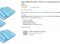 [amazon] SHP-ZONE Microfiber 15-Pack, Pro-Clean Mopping Cloths for Braava Floor Mopping Robot 380 380T  (15.5/프라임 무료)