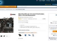 [newegg] MSI Z170-A PRO LGA 1151 Intel Z170 SATA 6Gb/s USB 3.1 ATX Intel Motherboard ($79.99/$2.99 or fs)