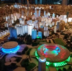 중국 상해시 모형물