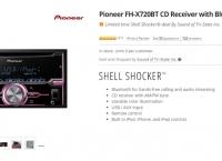 [newegg] Pioneer FH-X720BT CD Receiver with Bluetooth ($94.99/fs)