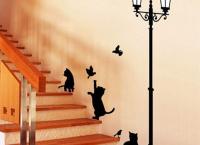 (알리)고양이 그림의 벽 장식 스티커 $1.86
