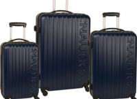[amazon] Nautica Long Shore 3 Piece Hard Side Spinner Luggage Set ($120/fs)
