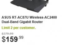 [newegg] ASUS RT-AC87U Wireless-AC2400 Dual-band Gigabit Router($160/fs)