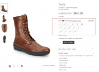 [saksoff5th] Tod's - Stivaletto Leather Ankle Boots 외 ($149.98, Free)