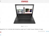 "[STAPLES] Lenovo Ideapad 300 15.6"" 4G 500GB HDD i3-6100U Win10 ($259.99/Free)"