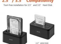 Alxum USB 3.0 To SATA Single Bay Hard Drive Docking Station(코드9.3달러할인)