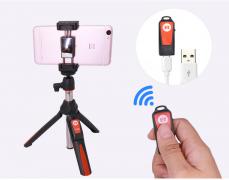 블루투스 모노 포드 셀프 카메라 미니 삼각대($17.55)