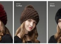 멋스러운!!! 100% Real Mink Hats $19.99 /무료배송