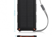[amazon] Poweradd Apollo3 8000mAh Solar Charger Dual USB Portable External Battery Power Bank ($11/prime fs)
