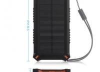 [amazon] Poweradd Apollo3 8000mAh Solar Charger Dual USB Portable External Battery Power Bank ($11/prime fs)