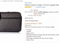 [amazon]Pierre Cardin Crosby 15-Inch Laptop Messenger Bag ($9.99 / prime fs)
