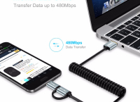CHOETECH 2-in-1 USB Type C+Micro USB Cable $2.59 /무료배송