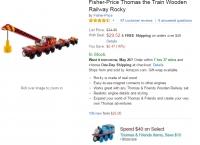 [Amazon] Fisher-Price Thomas the Train Wooden Railway Rocky ($29.52/$49 이상 무료)