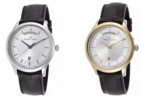 [worldofwatches] Maurice Lacroix Men's Les Classiques Black Genuine Leather Silver-Tone Dial ($199.99/FS)