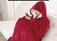 집돌이와 집순이를 위한 입는이불, 후드 전신담요, 나홀로족 강추 (28,400원/무배)