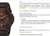 [AMAZON] G-SHOCK SKY COCKPIT Tough Solar GW-3000B-1AJF (Japan Import) (135$ / 4.75$ )