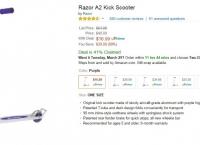 [Amazon] Razor A2 Kick Scooter [16.99/Prime FS]